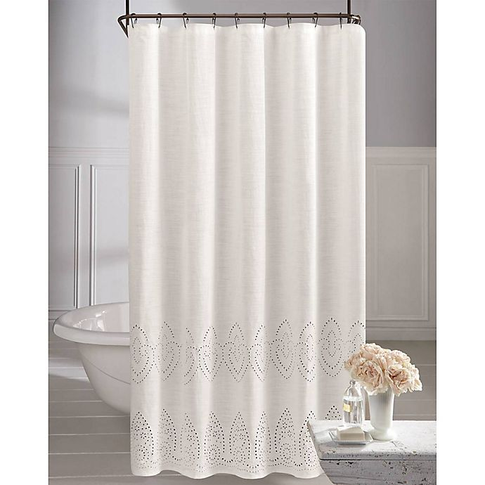 Alternate image 1 for Wamsutta® Vintage Eyelet Shower Curtain