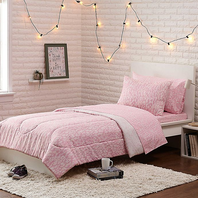 Alternate image 1 for Kalahari 5-Piece Reversible Twin/Twin XL Comforter Set in Pink