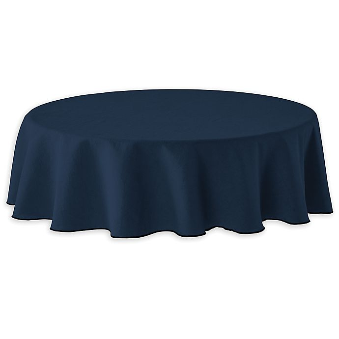 Alternate image 1 for Studio 3B™ Merrowed Linen 70-Inch Round Tablecloth