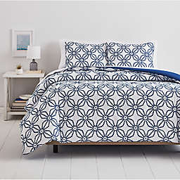 Simply Essential™ Dotted Medallion 3-Piece King Comforter Set in White/Blue