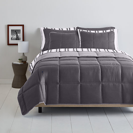Alternate image 1 for Simply Essential™ Boxstitch 6-Piece Twin/Twin XL Comforter Set in Excalibur