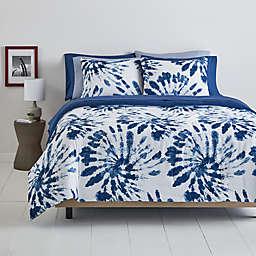 Simply Essential™ Tie-Dye 9-Piece Full/Full XL Comforter Set in Navy