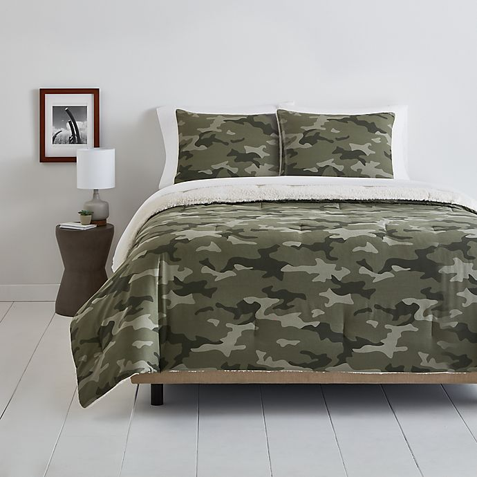 Alternate image 1 for Simply Essential™ Camo Sherpa Bedding Collection