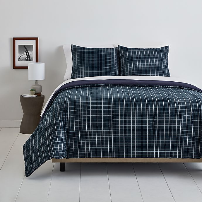 Alternate image 1 for Simply Essential™ Plaid 2-Piece Twin/Twin XL Comforter Set