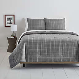Simply Essential™ Plaid 3-Piece Full/Queen Comforter Set in Grey