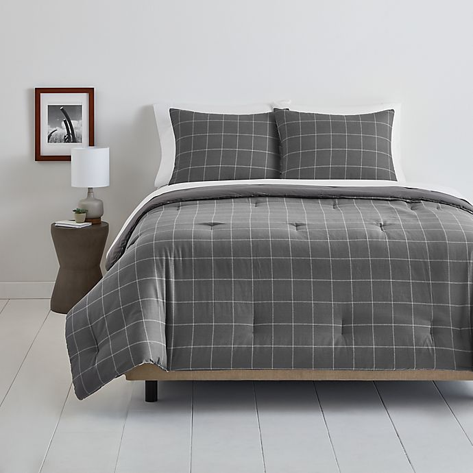 Alternate image 1 for Simply Essential™ Windowpane Bedding Collection