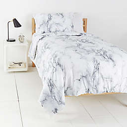 Simply Essential™ Garment Washed 2-Piece Twin/Twin XL Duvet Cover Set in Marble