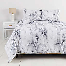 Simply EssentialTM Garment Washed 3-Piece King Duvet Set in Marble