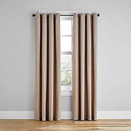 Simply Essential™ Woven Honeycomb 63-Inch Grommet Light Filtering Curtain in Mocha (Single)