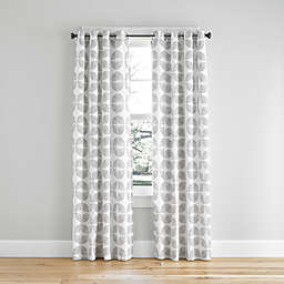 Simply Essential™ Mod Flower Light Filtering Grommeted Window Curtain Panel (Single)
