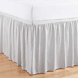 Simply Essential™ Full/Full XL Ruffled Bed Skirt in Grey