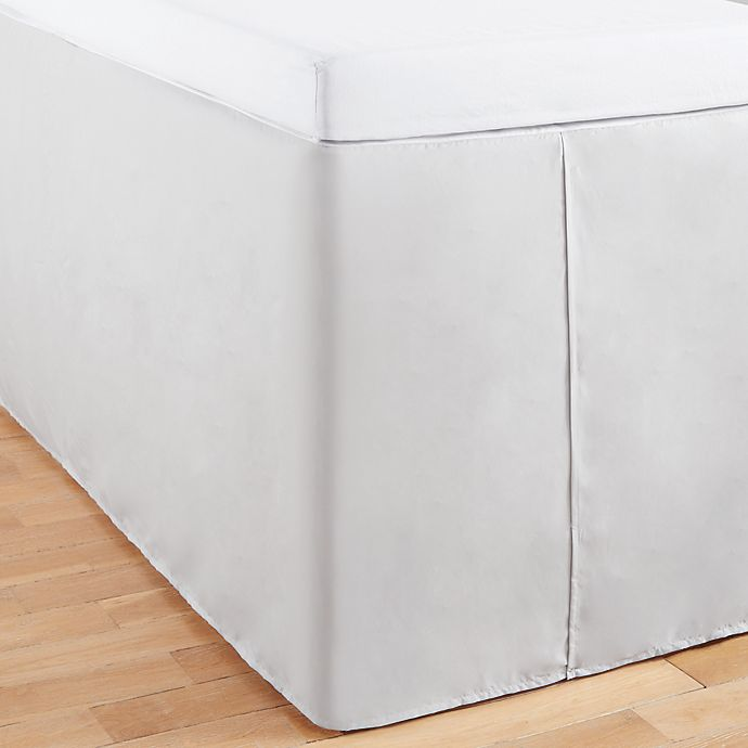 Alternate image 1 for Simply Essential™ Full/Full XL Tailored Bed Skirt in Grey