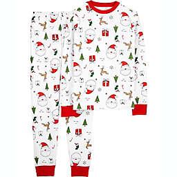 carter's® 2-Piece Adult Santa Print Pajama Set