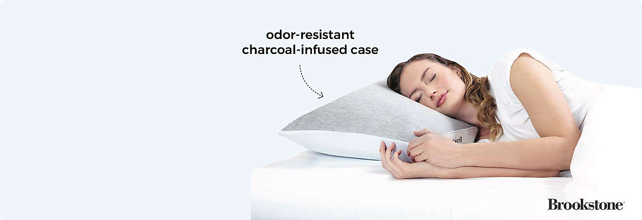 brookstone charcoal pillow