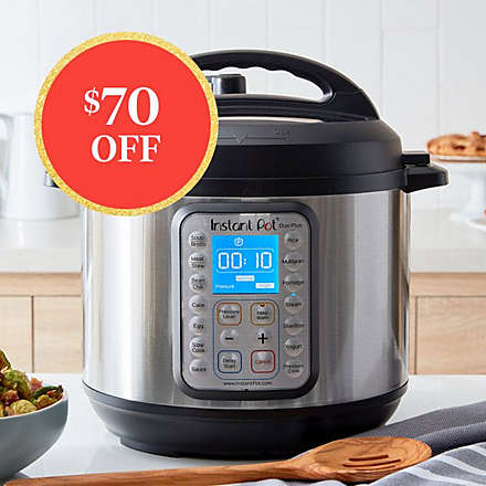 Save on the Instant Pot Duo Plus 6qt 9- in-1 Pressure Cooker. Shop Now