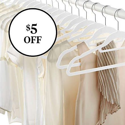 Save on Real Simple® Slimline 50ct Flocked Hangers. Shop Now