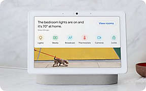 New! Meet the Google Nest Hub Max.. Shop Now