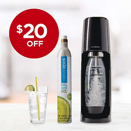 Get the SodaStream® Fizzi One-Touch Sparkling Water Maker for Less!. Shop Now