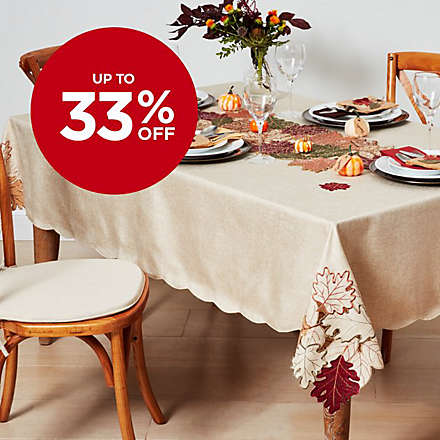 Save on Select Harvest Table Linens. Shop Now