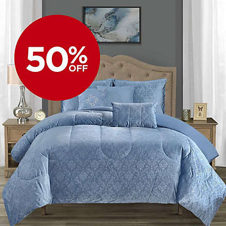 Clearance! 6-Piece Comforter Set, Was $149.99, Now $74.99!. Shop Now