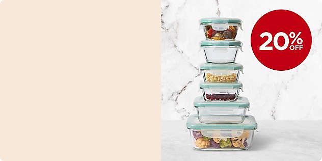20% OFF All OXO Good Grips® Glass Food Storage thru 12/8.