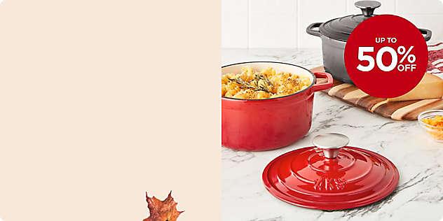 Up to 50% OFF UP TO Artisanal Kitchen Supply® Dutch Ovens thru 11/17.