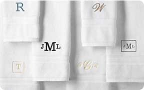Free monogramming on select towels & bathrobes thru 11/12.. Shop Now