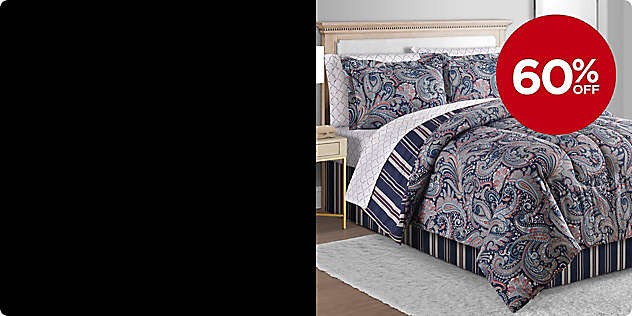 60% OFF Select 8- Piece Comforter Sets
