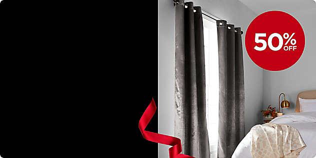 50% OFF Brookstone® 2-Pack Velvet Blackout Panels