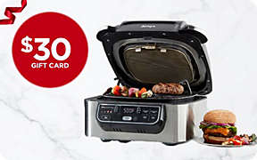 $30 Gift Card with select Ninja® Foodi™ purchase. Limited time.. Shop Now
