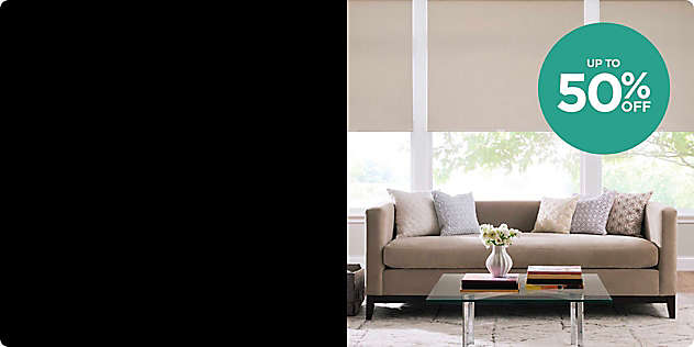 Entire Stock! Up to 50% OFF All Blinds & Shades