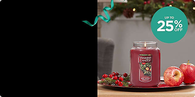 Up to 25% OFF Select Candles