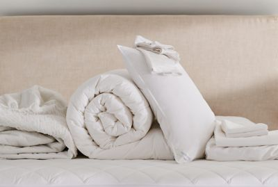 Shop Nestwell bedding basics - comforters, sheets and pillows.