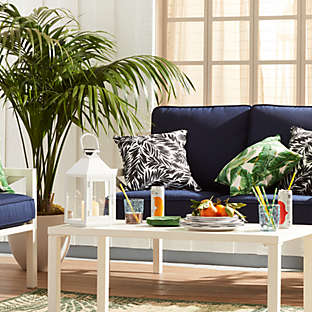 Get comfortable furniture for your outdoor living area.