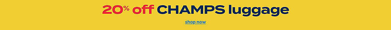 20% off champs luggage