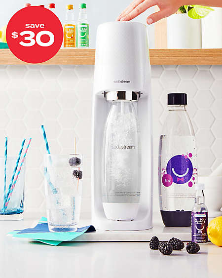 save $30 on SodaStream® sparkling water makers