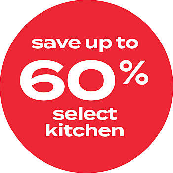 up to 60% off kitchen