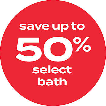 up to 50% off bath