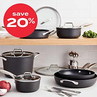 save 20% on Calphalon® Premier™ nonstick 10pc cookware set