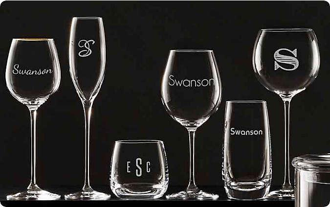personalized barware & drinkware