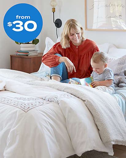 Comforters that add warmth and weight with sophistication from $30.