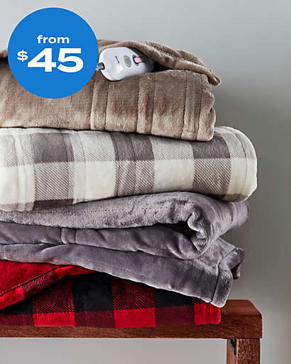 Heated blankets to make chill nights nice and toasty from $45.