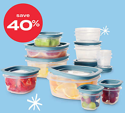 40% off Rubbermaid® Flex & Seal™ 26pc food storage set
