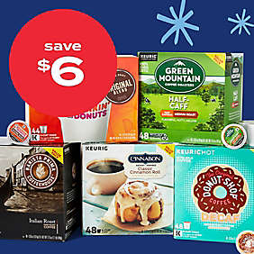 $6 off Keurig® K-Cup® pods 36-48ct value & variety packs