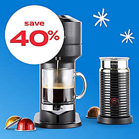 up to 40% off Nespresso® machines