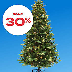 30% off christmas trees & decor
