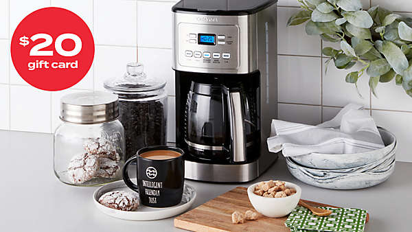 $20 gift card with Cuisinart® 14-cup coffee maker