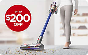 Up to $200 OFF select Dyson vacuums.. Shop Now