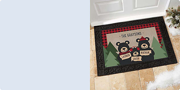 Welcome Guests with Wonderfully Wintry Doormats