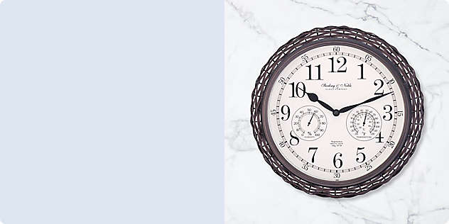 Patio-Perfect Outdoor Clocks & Thermometers